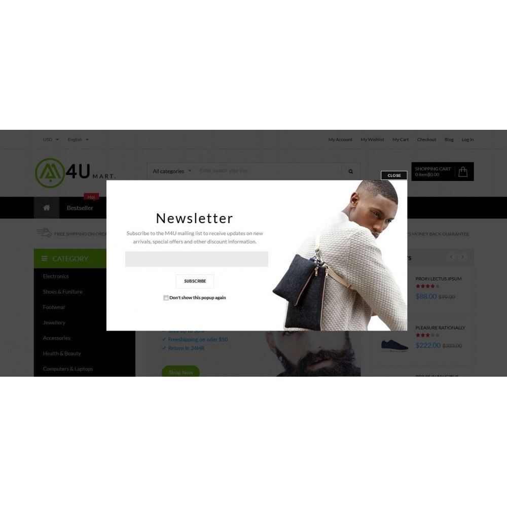 module - Newsletter & SMS - Newsletter Popup - Creative and Responsive  popup - 3
