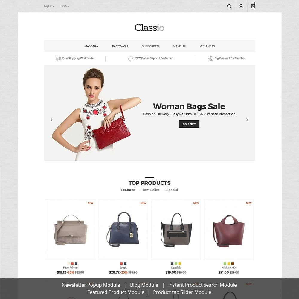 theme - Мода и обувь - Сумка Classio - магазин мод - 1