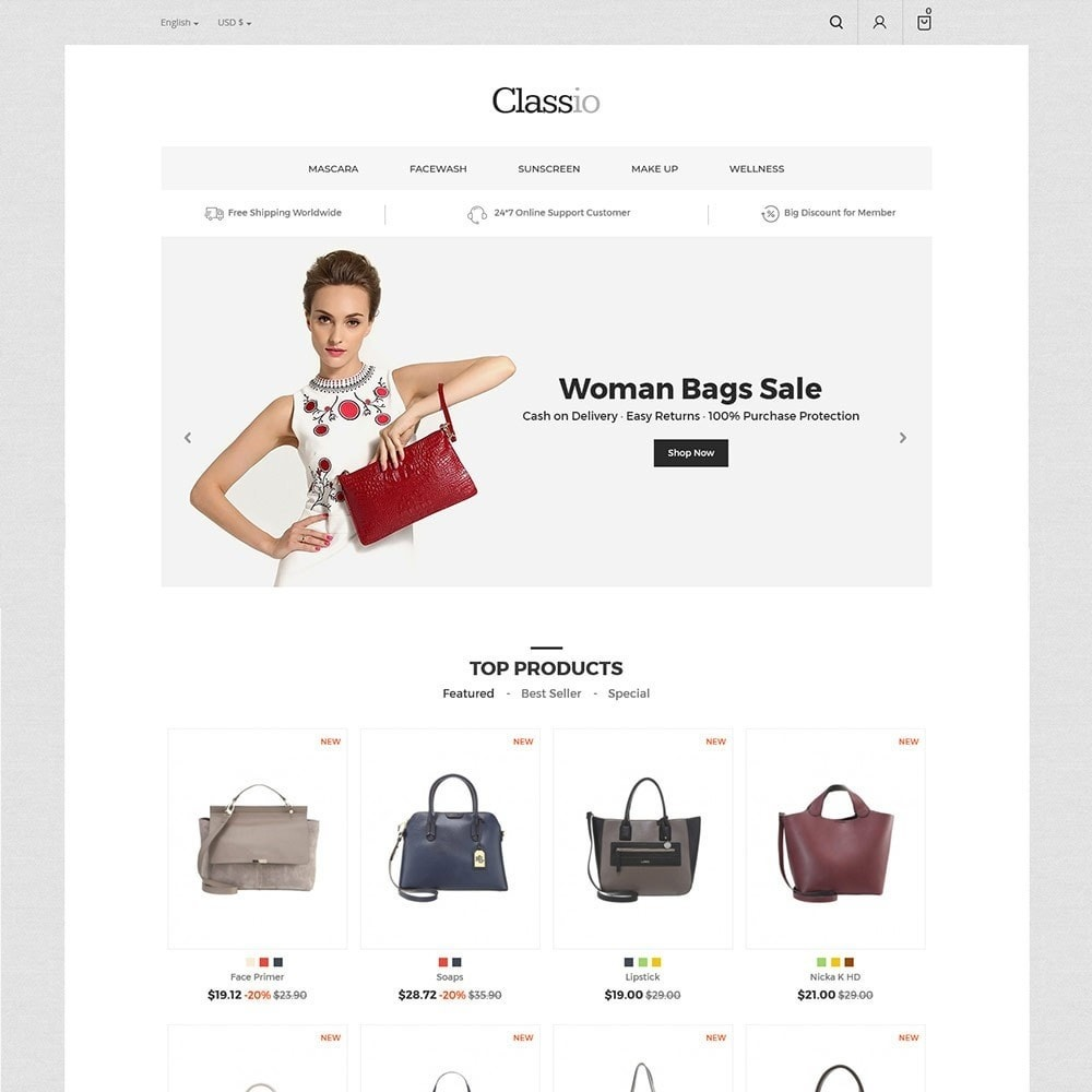 theme - Moda & Calzature - Classio Bag - Fashion Store - 3