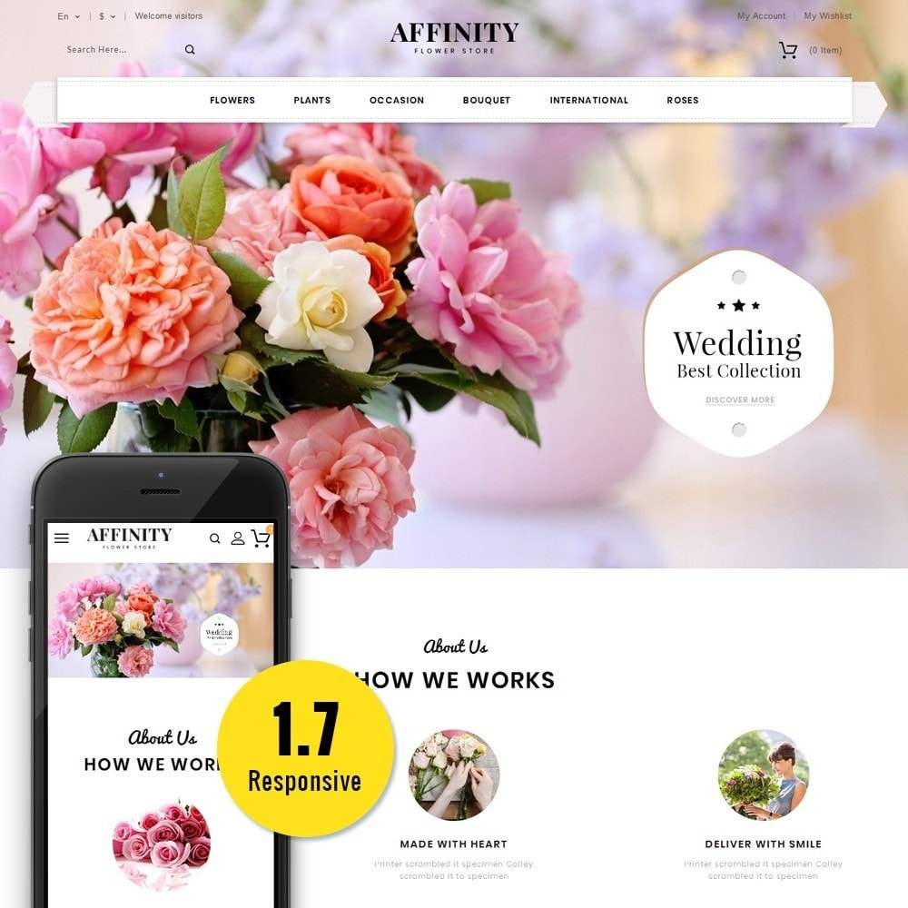 theme - Cadeaux, Fleurs et Fêtes - Affinity Flower Store - 1