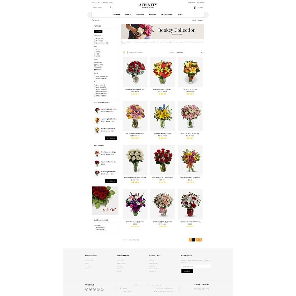 theme - Cadeaux, Fleurs et Fêtes - Affinity Flower Store - 3