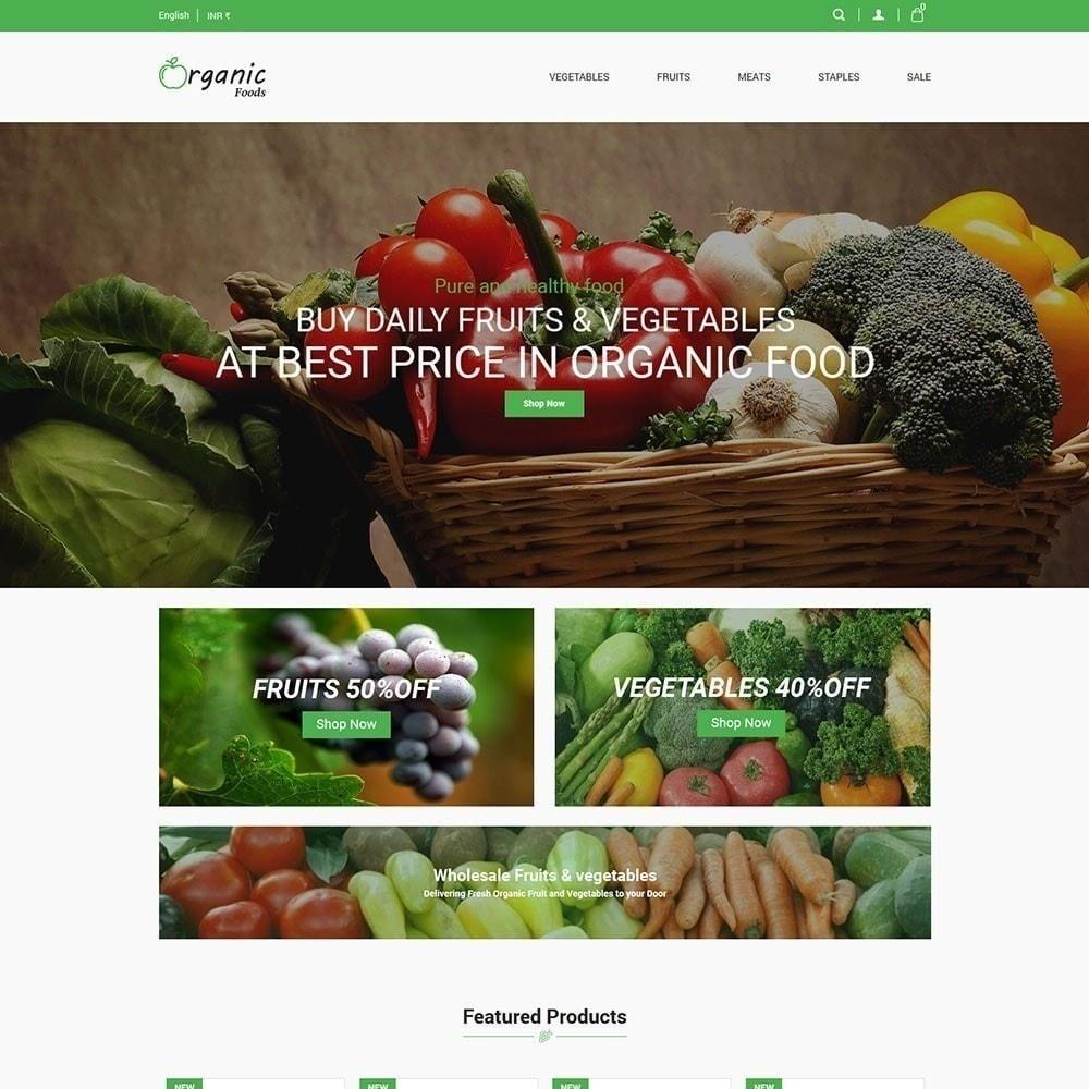 theme - Gastronomía y Restauración - Tienda de alimentos organicos - 3