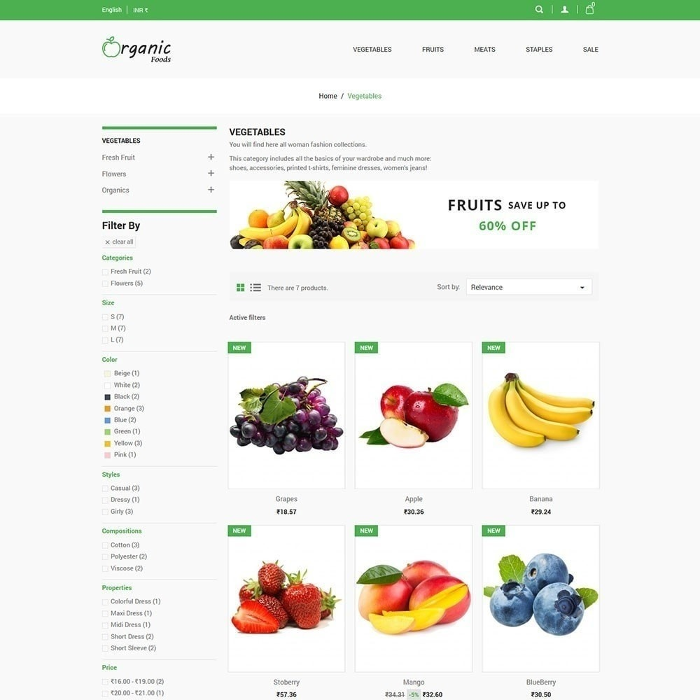 theme - Gastronomía y Restauración - Tienda de alimentos organicos - 4