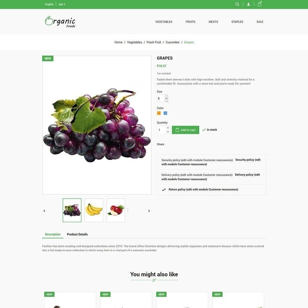 theme - Gastronomía y Restauración - Tienda de alimentos organicos - 6