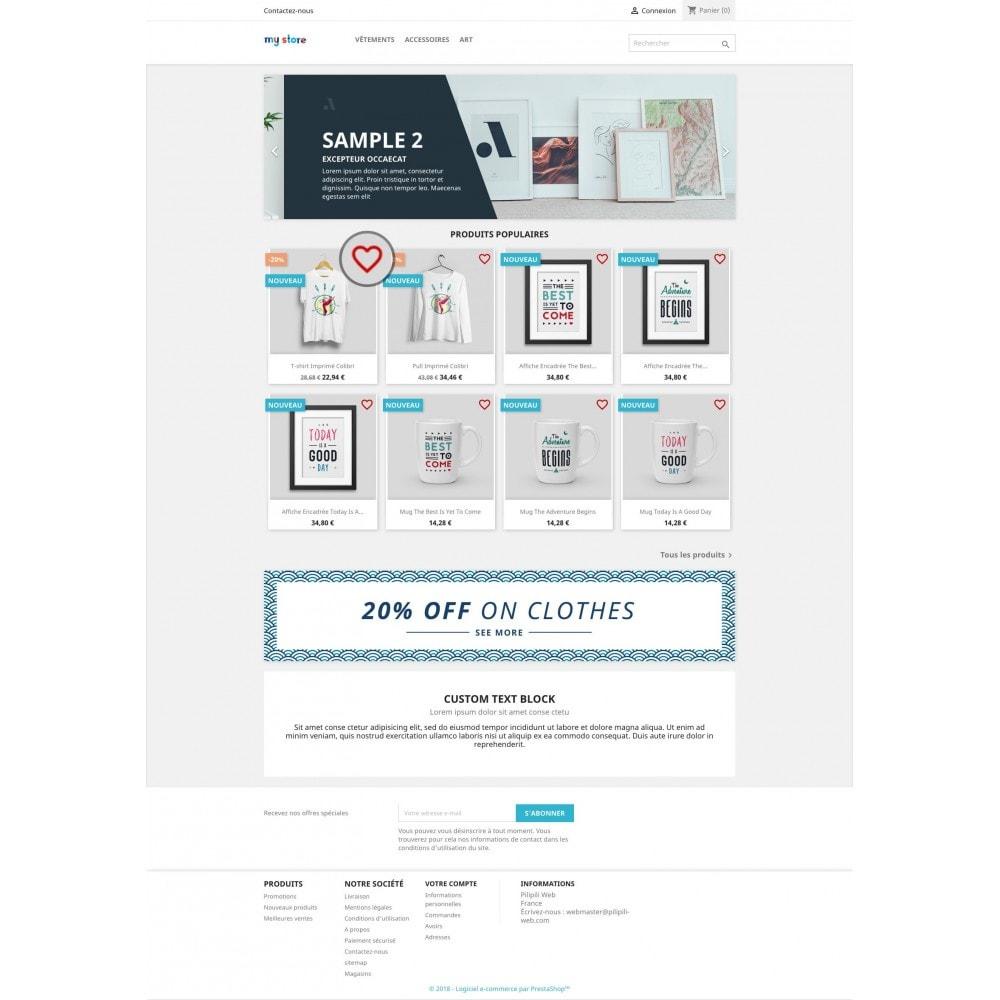 module - Informação Adicional & Aba de Produto - List of your favorite products / wishlist - 3