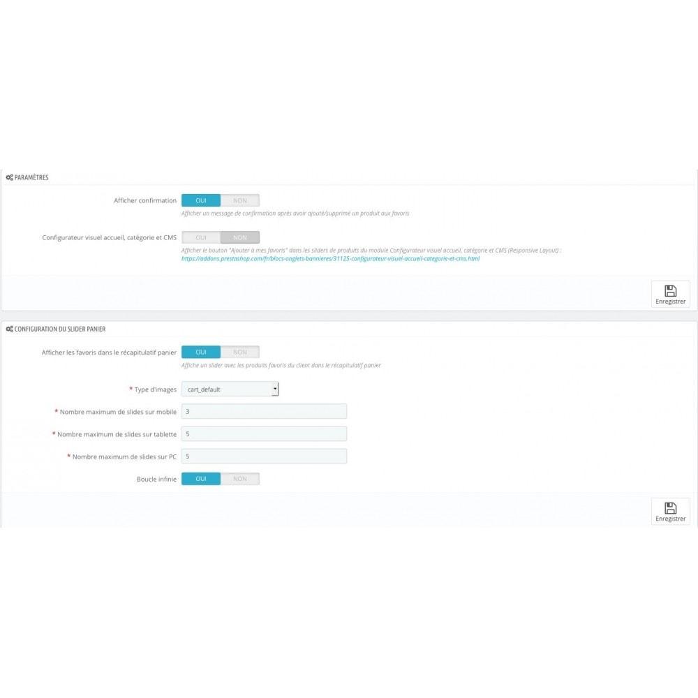 module - Information supplémentaire & Onglet produit - Liste de vos produits favoris / wishlist - 2