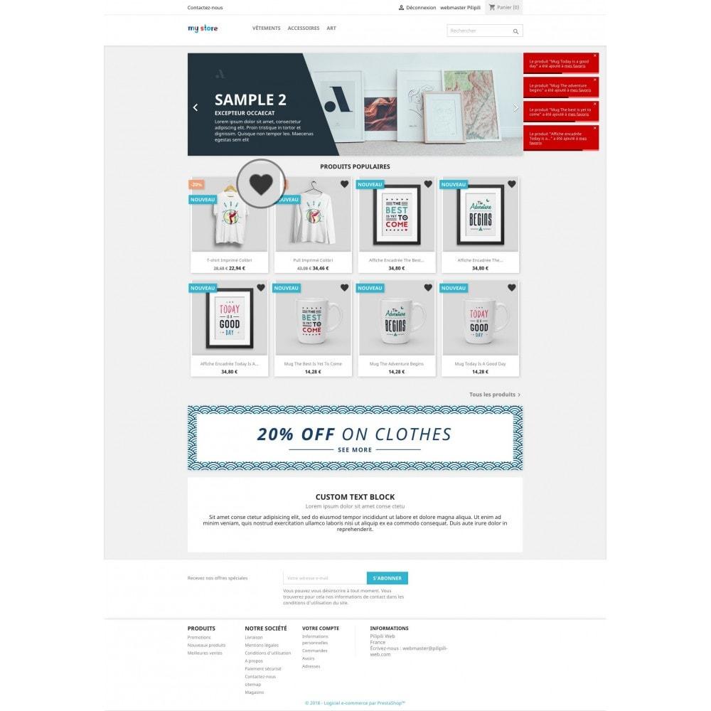 module - Information supplémentaire & Onglet produit - Liste de vos produits favoris / wishlist - 4