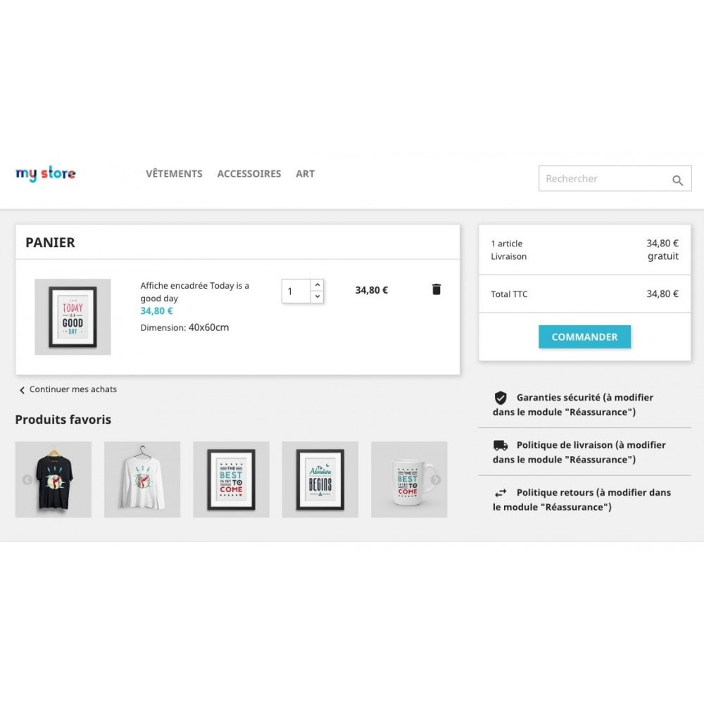 module - Information supplémentaire & Onglet produit - Liste de vos produits favoris / wishlist - 8
