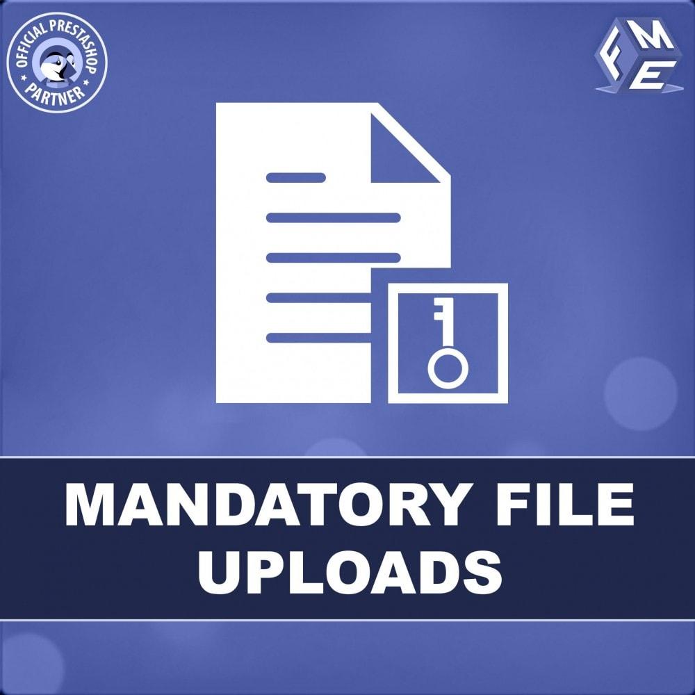 module - Informação Adicional & Aba de Produto - Mandatory File Upload - 1