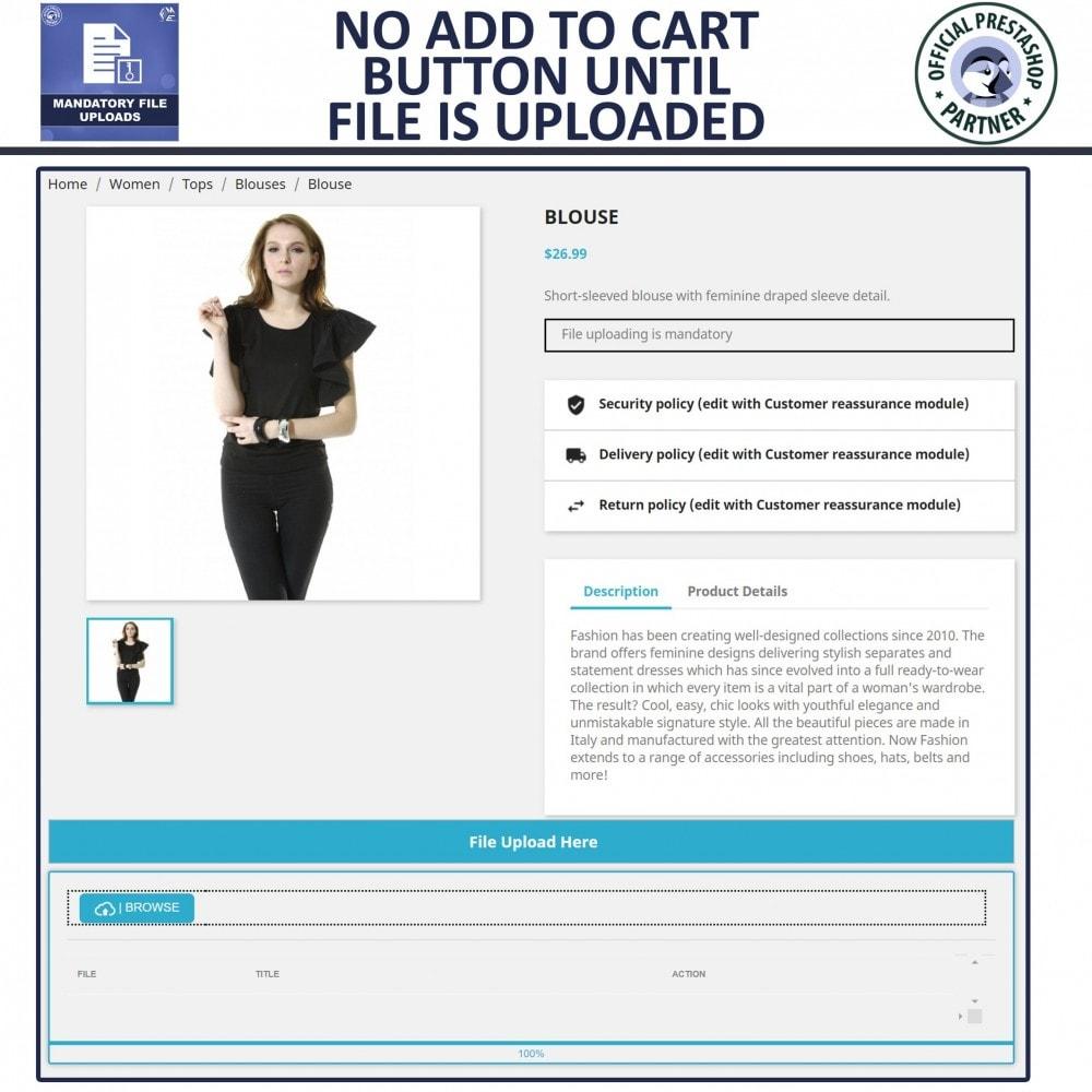 module - Informação Adicional & Aba de Produto - Mandatory File Upload - 3