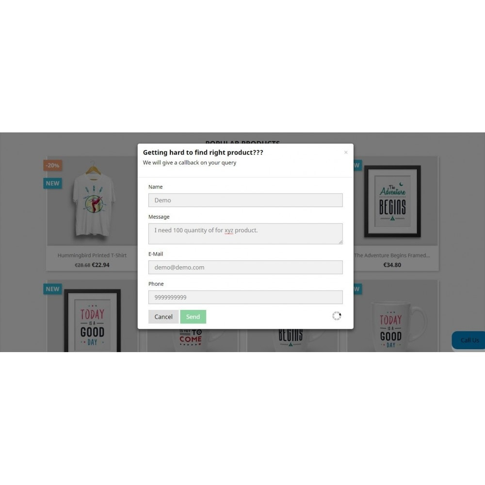 module - Wsparcie & Czat online - Call Back Request - 10