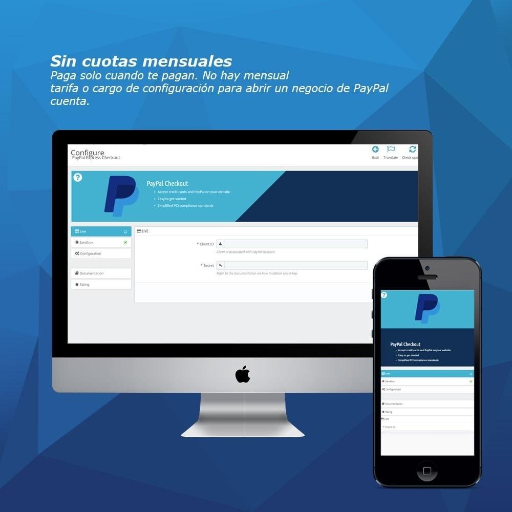 module - Pago con Tarjeta o Carteras digitales - PayPal Express Checkout - 3