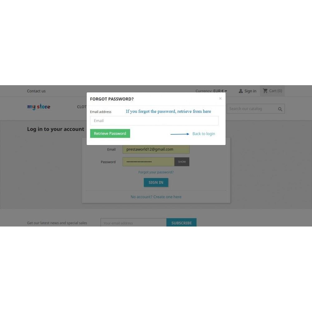 module - Inscripción y Proceso del pedido - Ajax Login and Registration with Social (Quick) Login - 12