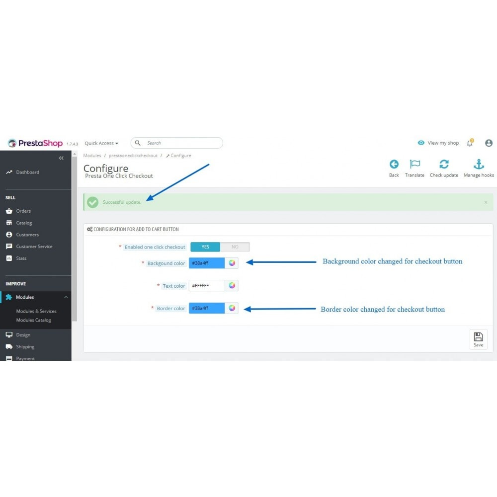 module - Процесс заказа - One click checkout - 5