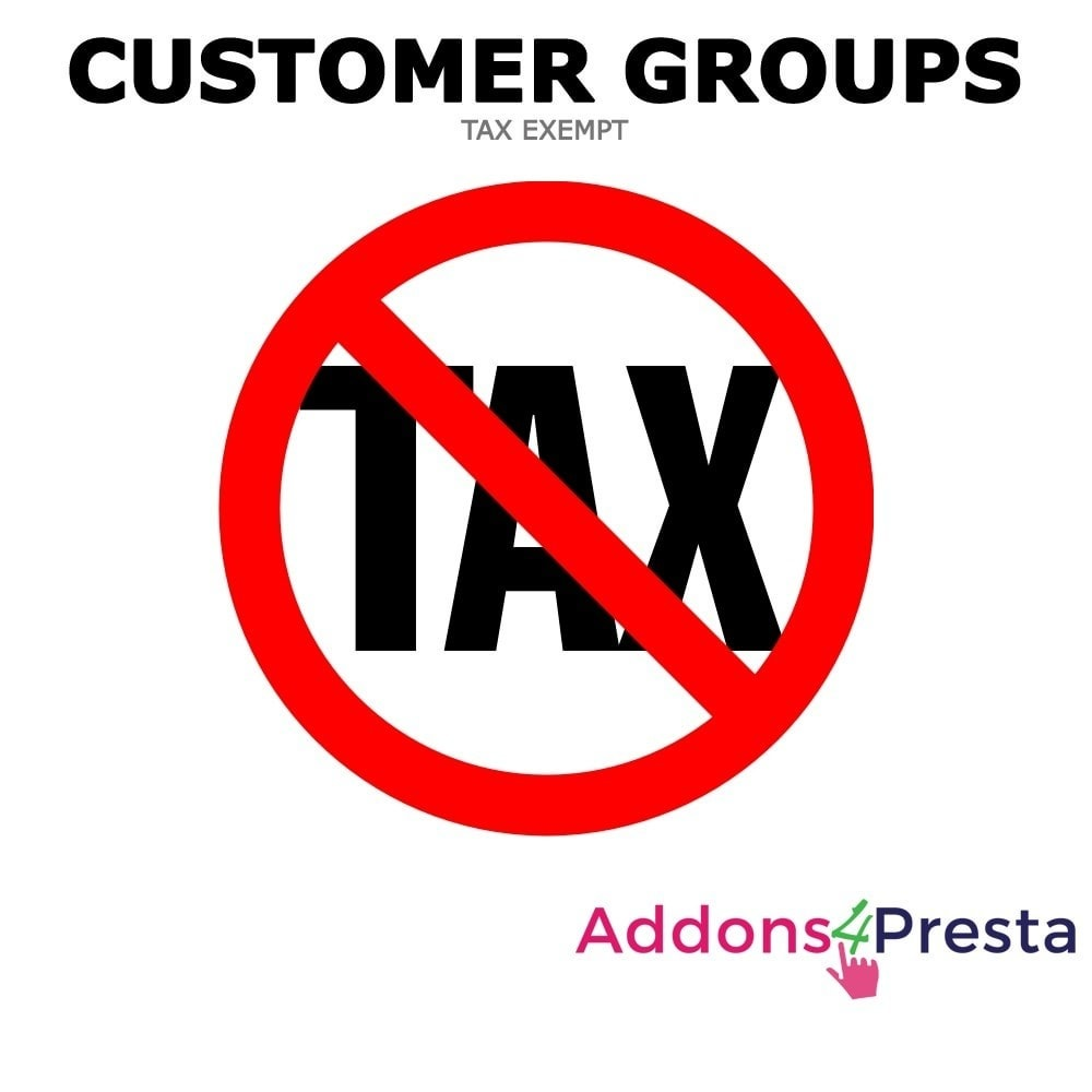 module - Gestion des Prix - Tax Exclude Customer Groups - 1