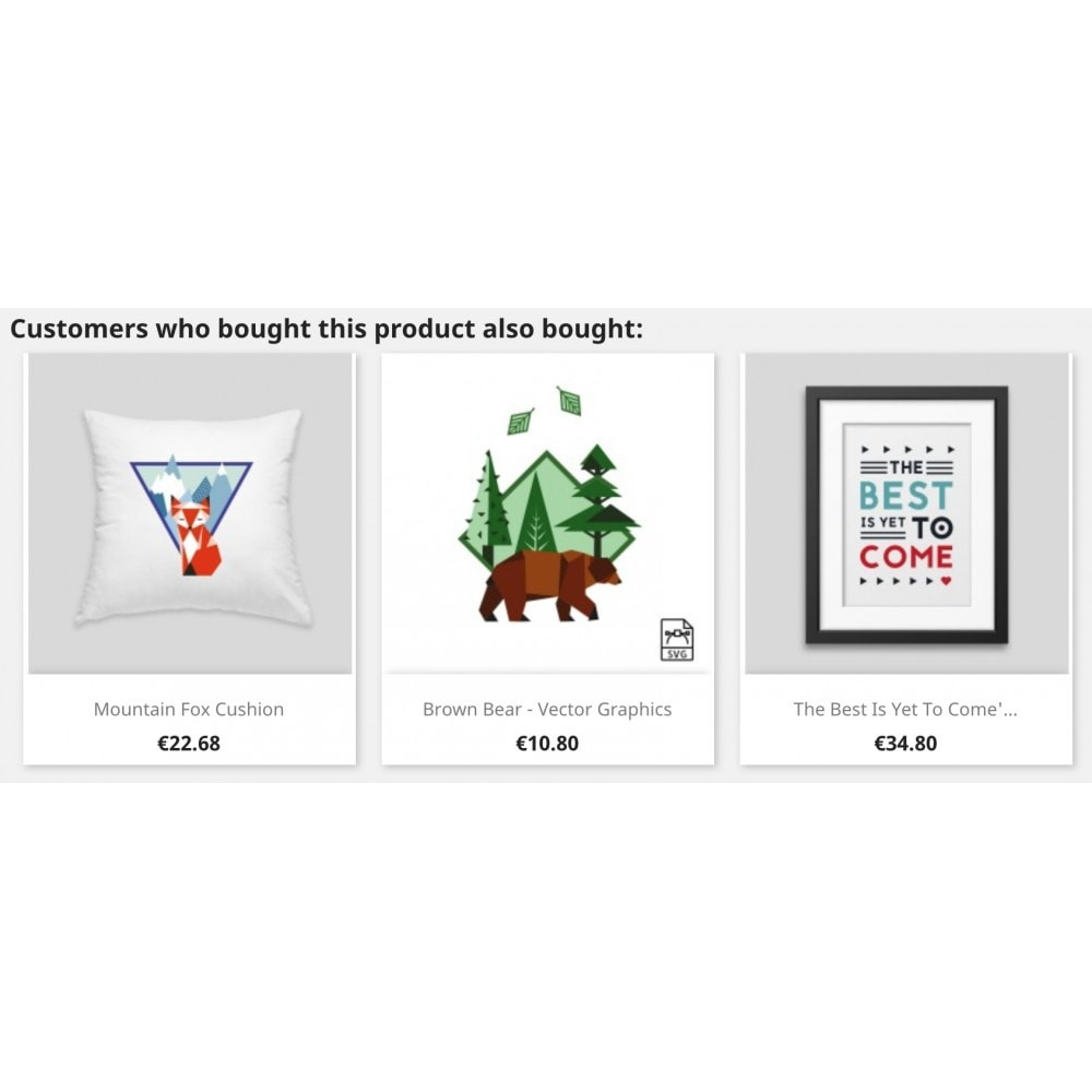 module - Vendas cruzadas & Pacotes de produtos - Cross-selling - 2