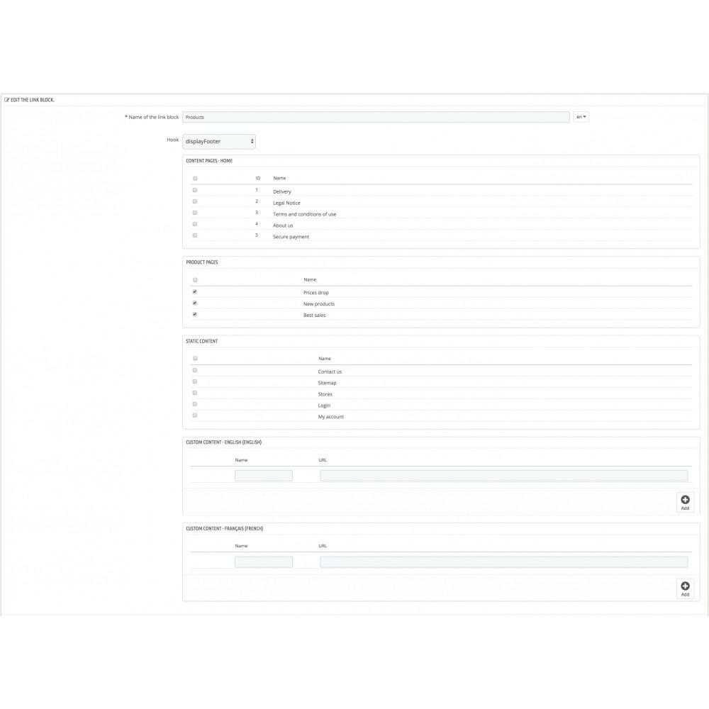 module - Navigationstools - Link List - 2
