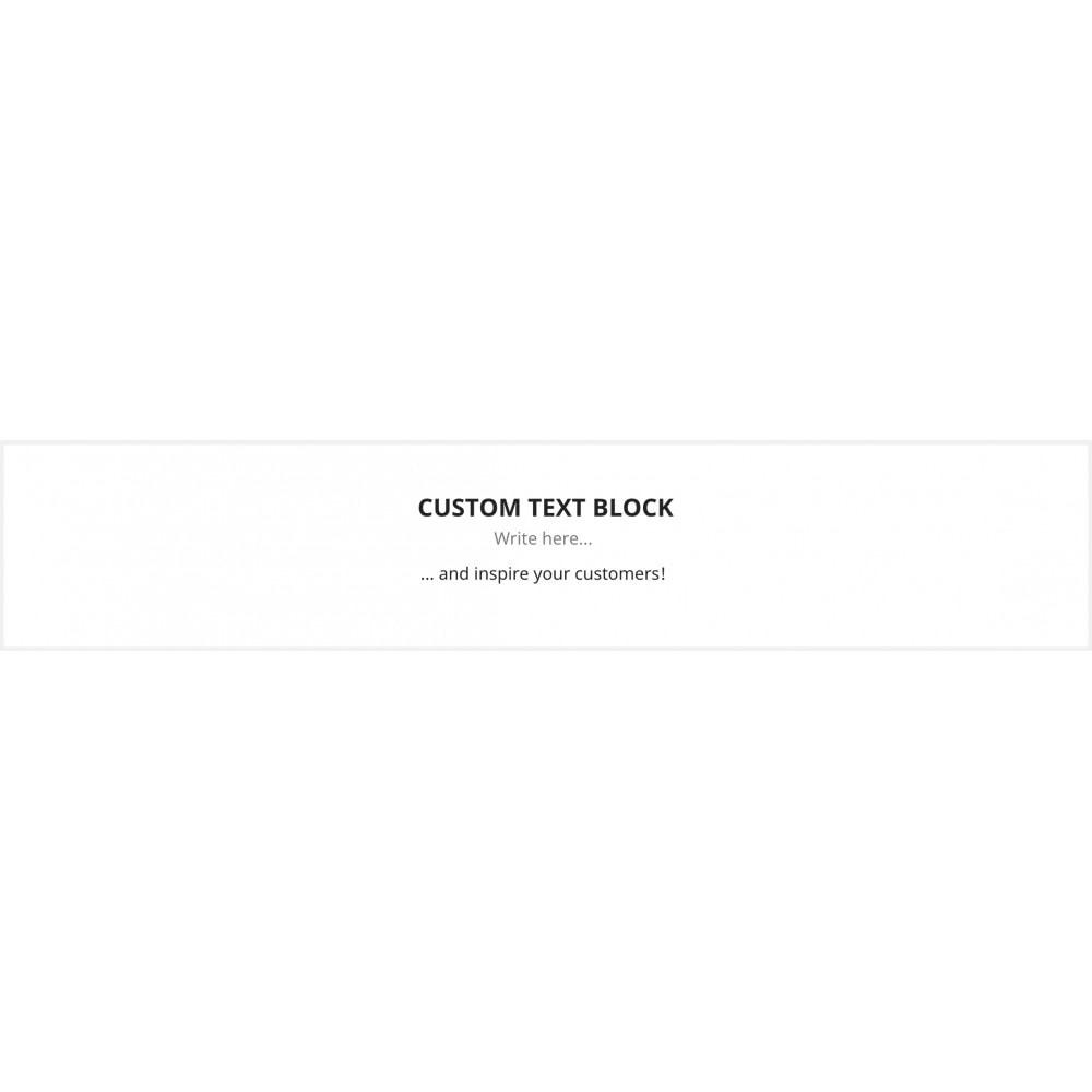 module - Blocchi, Schede & Banner - Custom text blocks - 2