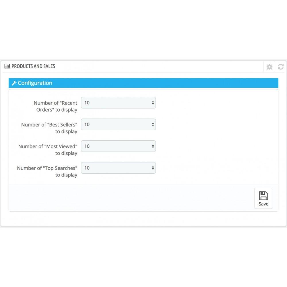module - Dashboards - Dashboard Products - 2