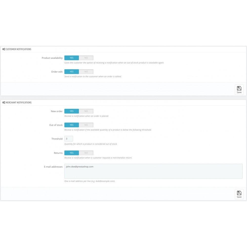 module - E-maile & Powiadomienia - Mail alerts - 1