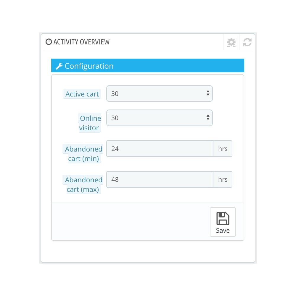 module - Системный журнал - Dashboard Activity - 2