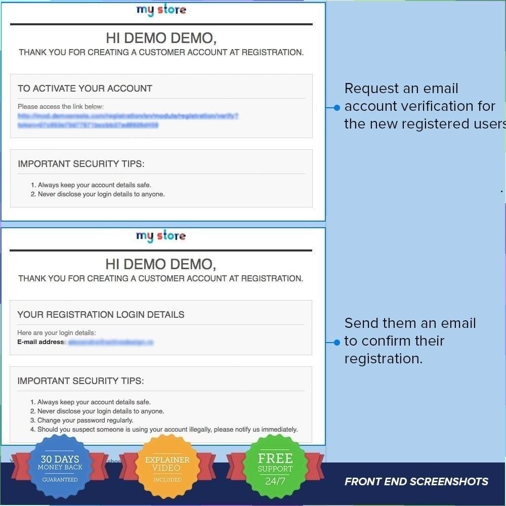 module - Inscription & Processus de commande - Enregistrement de groupes de clients PRO - 3