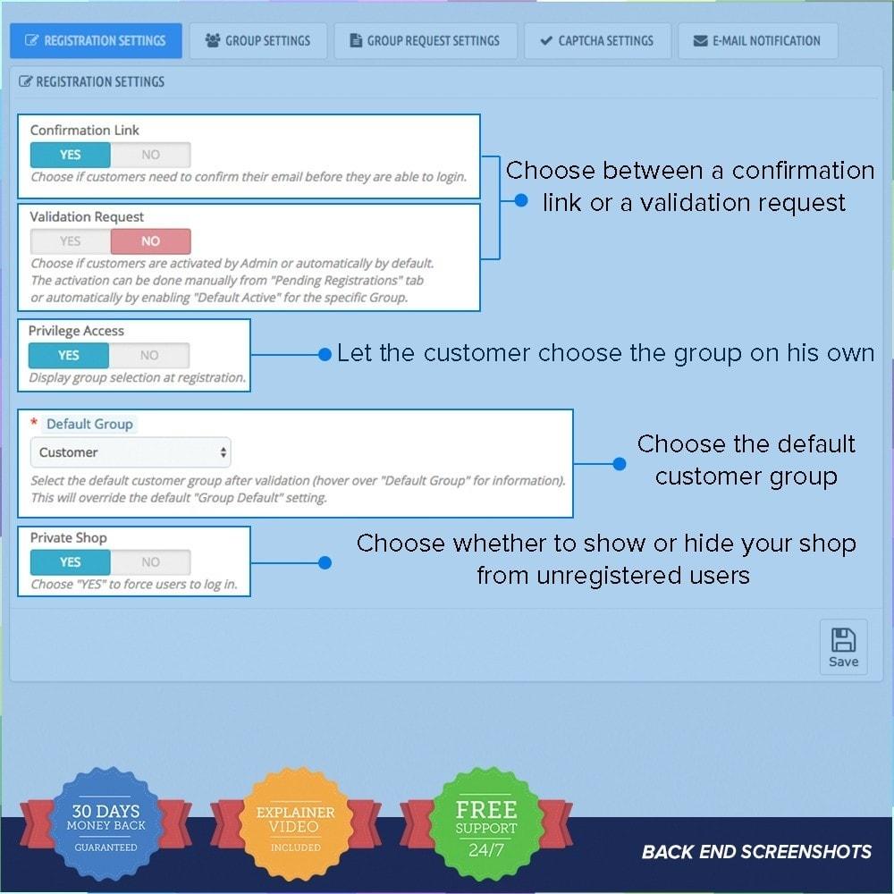 module - Iscrizione e Processo di ordinazione - Registrazione Gruppi Clienti PRO - 8