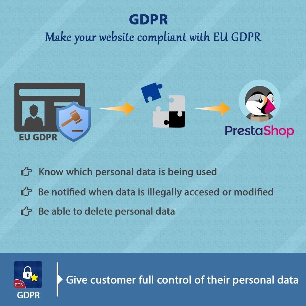 module - Legale (Legge Europea) - GDPR Compliance - EU Cookies Law Banner - 1