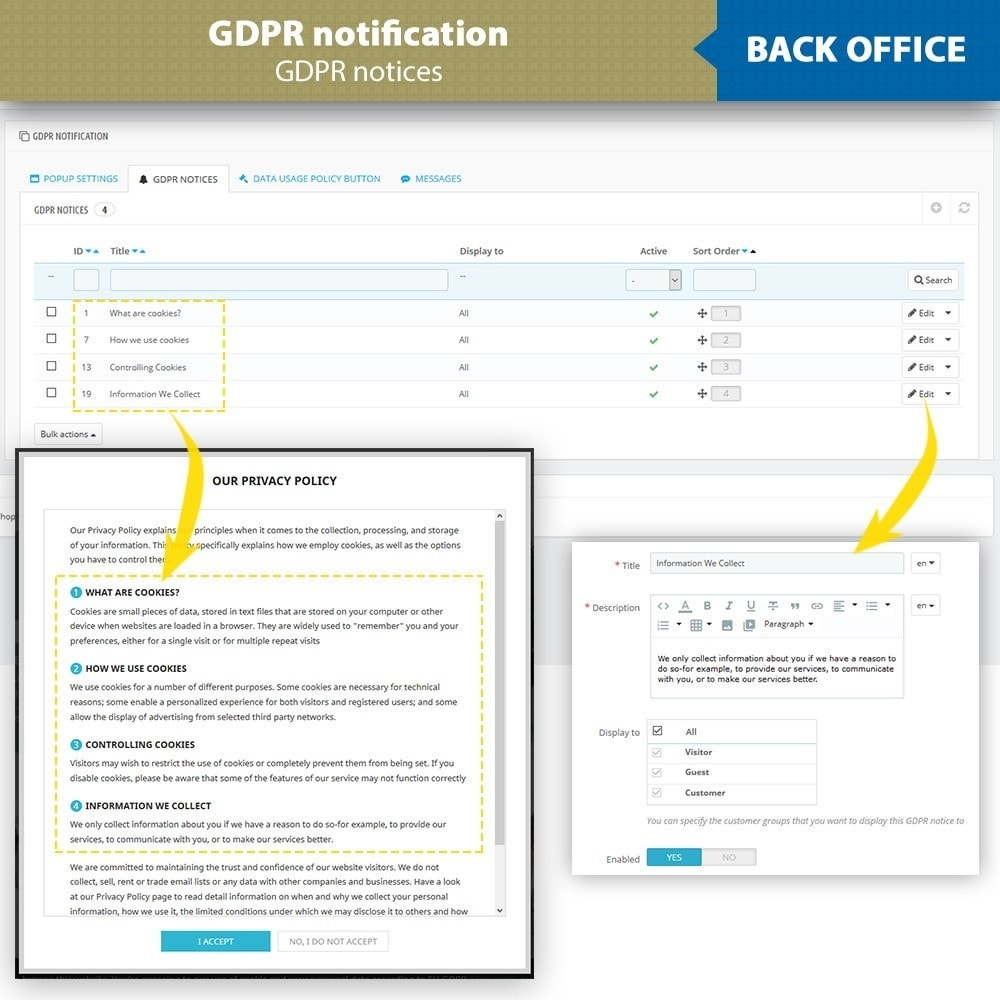 module - Legale (Legge Europea) - GDPR Compliance - EU Cookies Law Banner - 13
