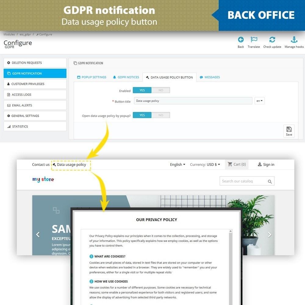 module - Legale (Legge Europea) - GDPR Compliance - EU Cookies Law Banner - 14