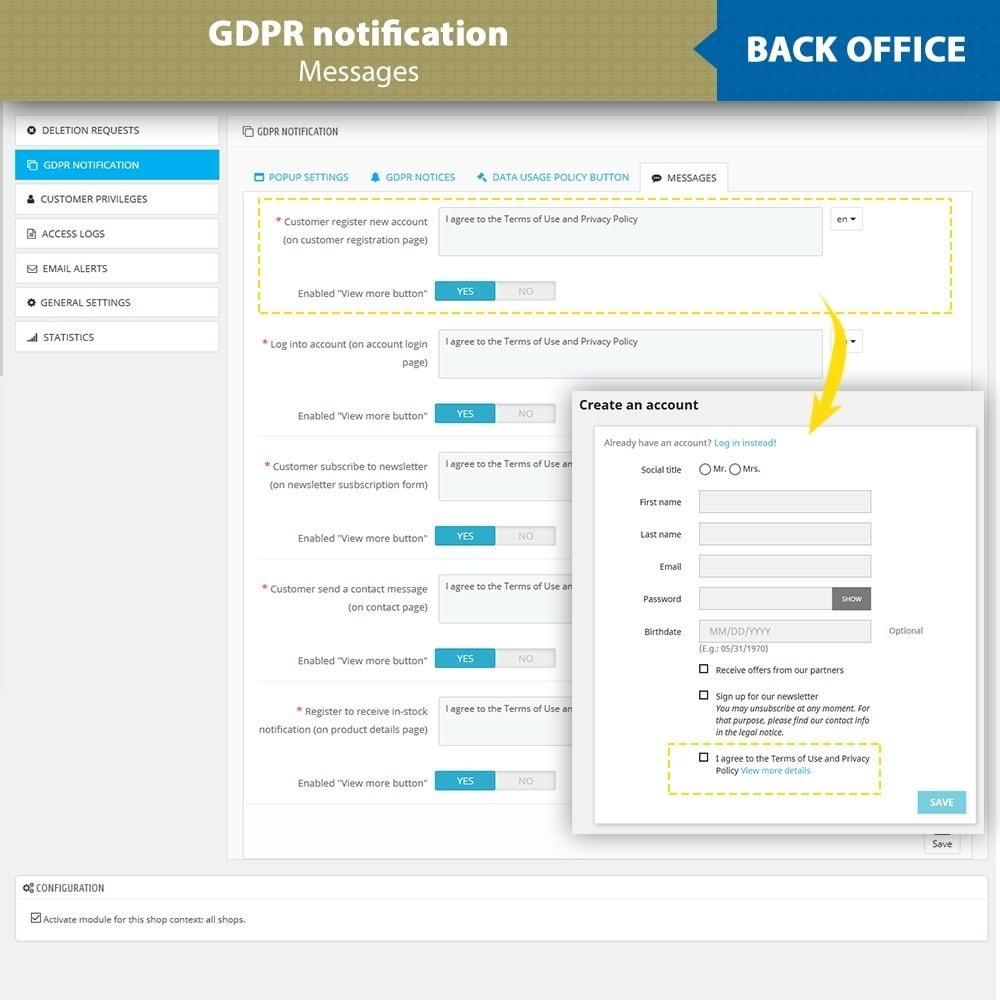 module - Legale (Legge Europea) - GDPR Compliance - EU Cookies Law Banner - 15