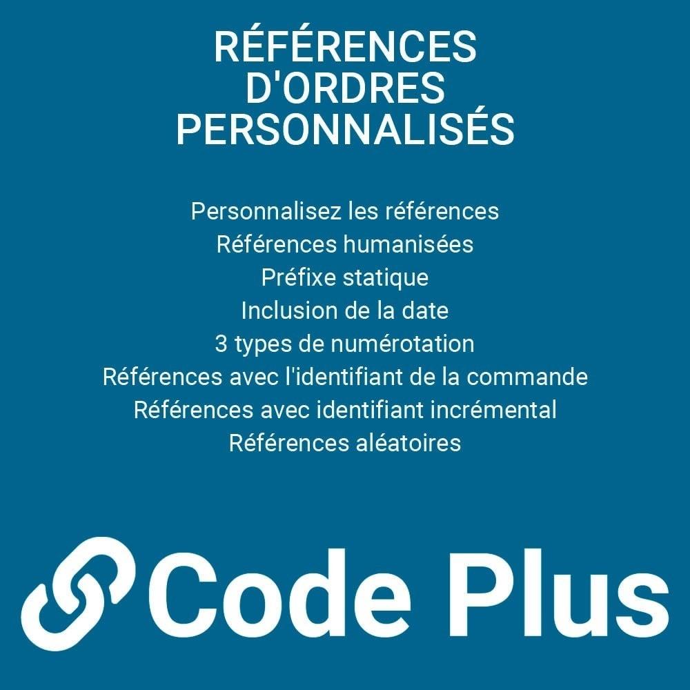 module - Gestion des Commandes - Références de commandes personnalisées - 1