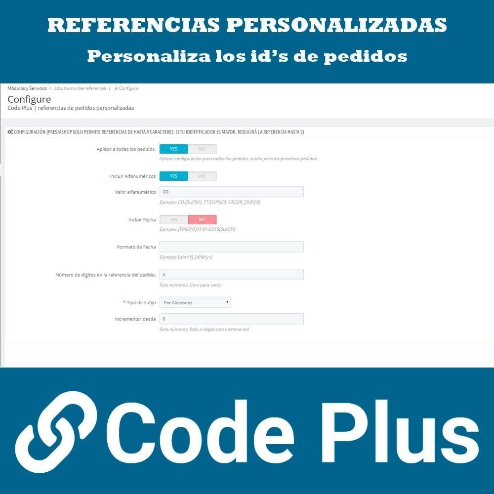 module - Gestión de Pedidos - Referencias de pedidos personalizadas - 2