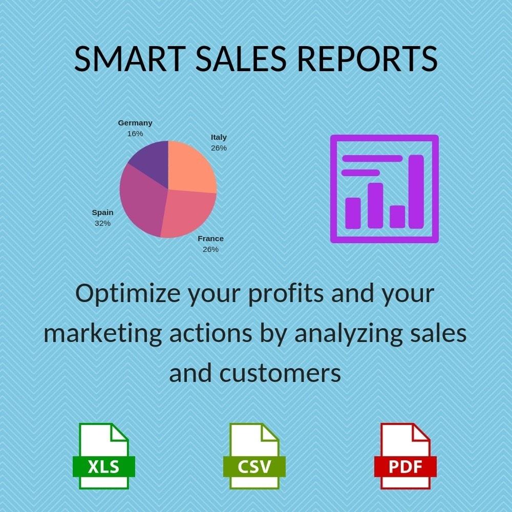 module - Importação & exportação de dados - Smart Sales Reports - 1
