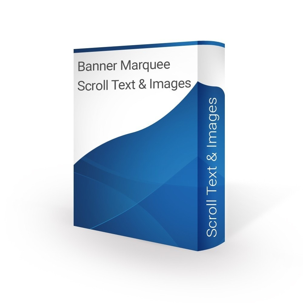 module - Blocks, Reiter & Banner - Banner Marquee Scroll Text & Images - 1