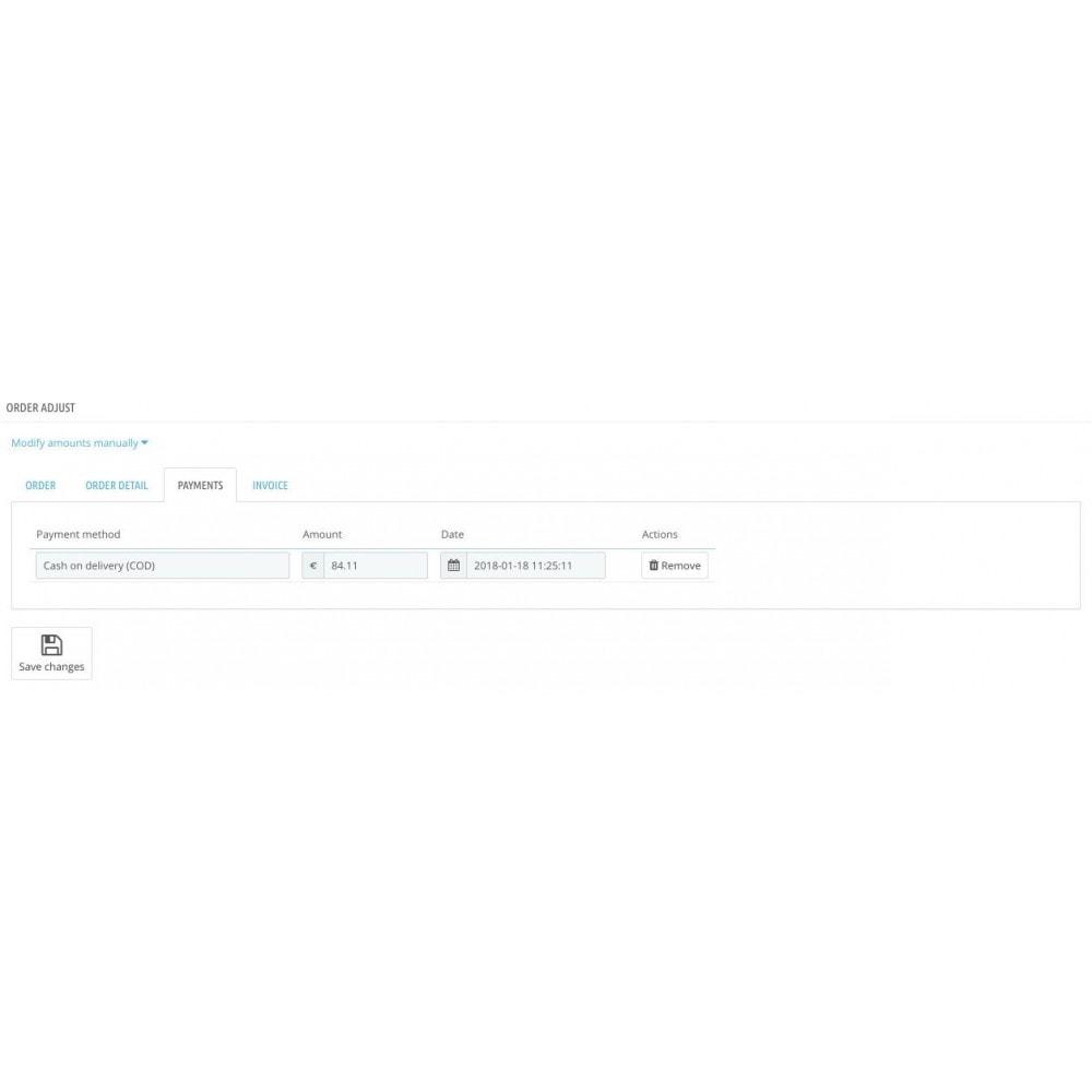 module - Управление заказами - Adjust order amount - 3