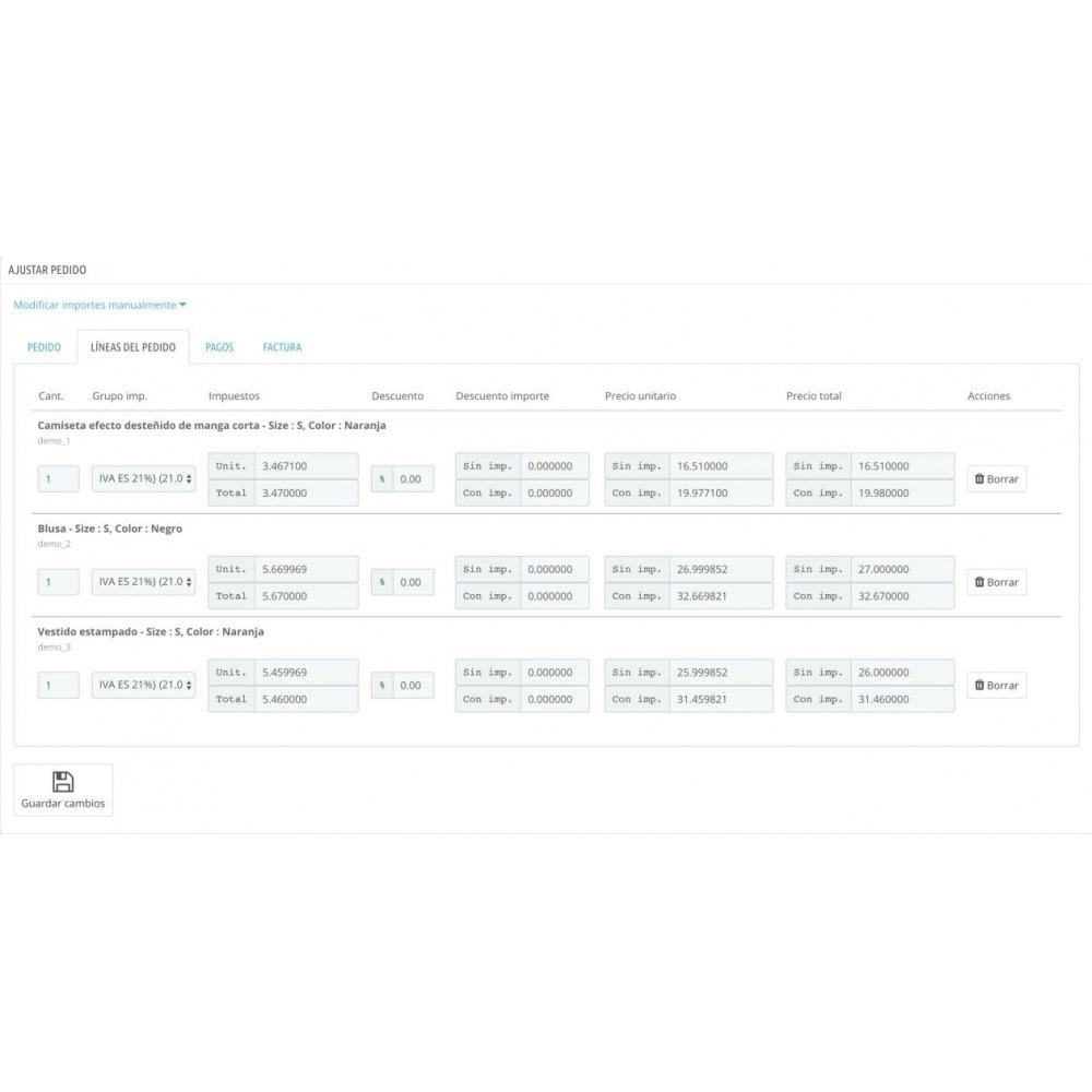 module - Gestión de Pedidos - Ajustar pedidos - 2