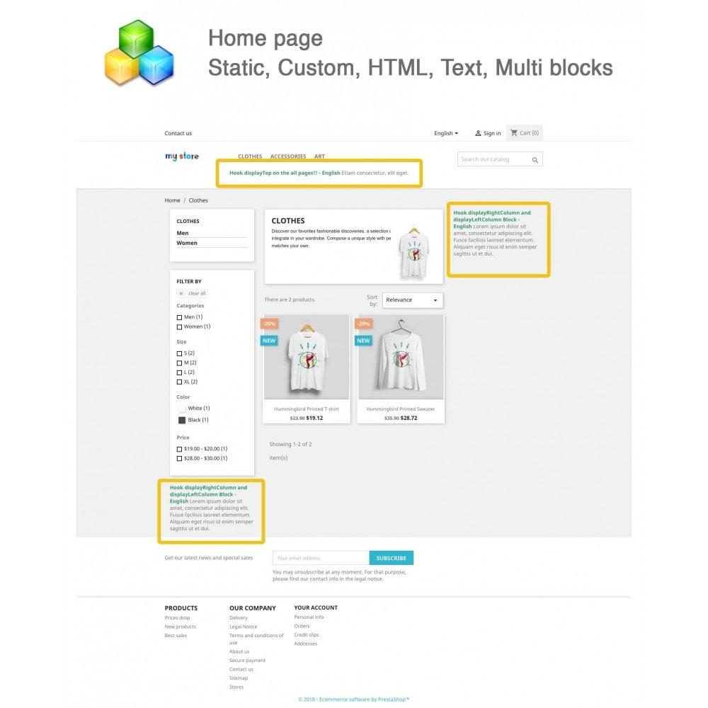 module - Blocks, Reiter & Banner - Static, Custom, HTML, Text, Multi blocks - 1