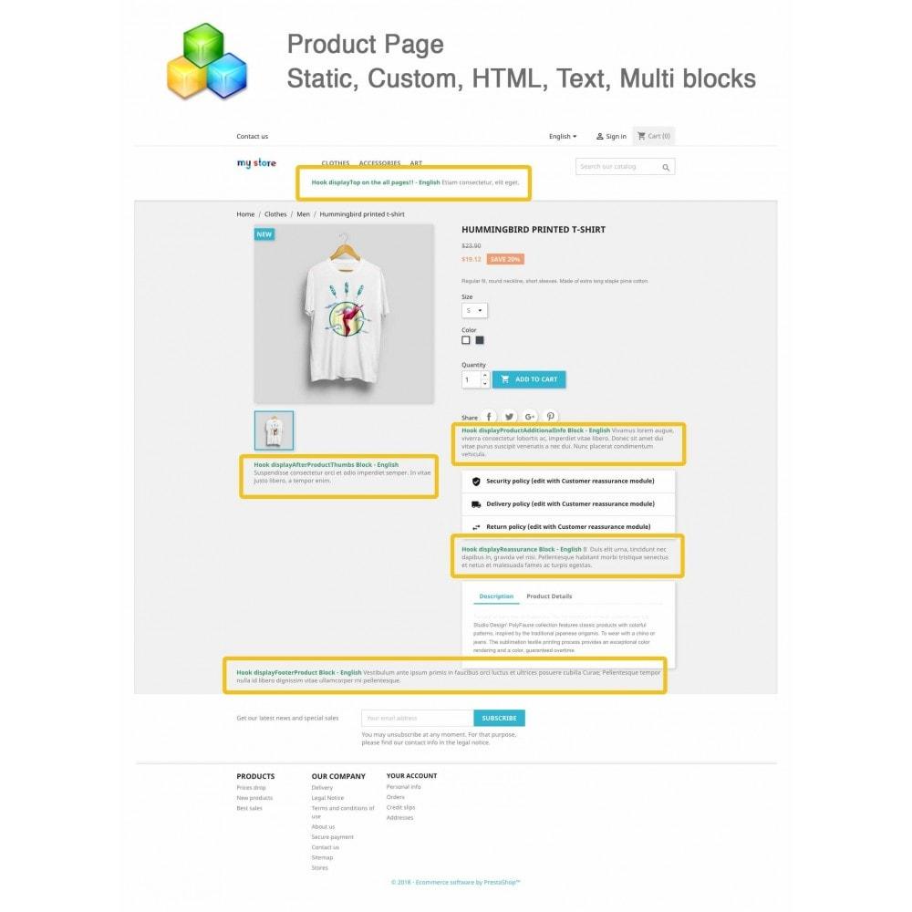 module - Blocks, Reiter & Banner - Static, Custom, HTML, Text, Multi blocks - 3