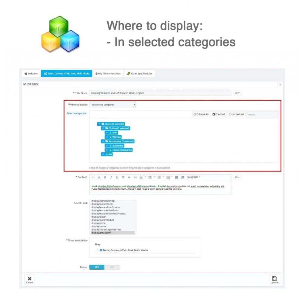 module - Blocks, Reiter & Banner - Static, Custom, HTML, Text, Multi blocks - 7