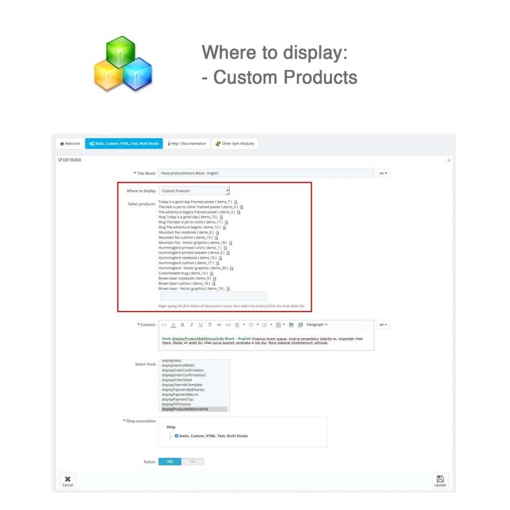module - Blocks, Reiter & Banner - Static, Custom, HTML, Text, Multi blocks - 8