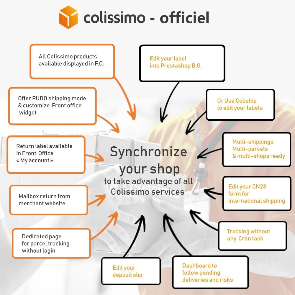 module - Transportadoras - Colissimo - Official app: your shipments with Colissimo - 1