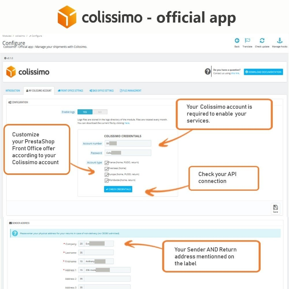 module - Transportadoras - Colissimo - Official app: your shipments with Colissimo - 4