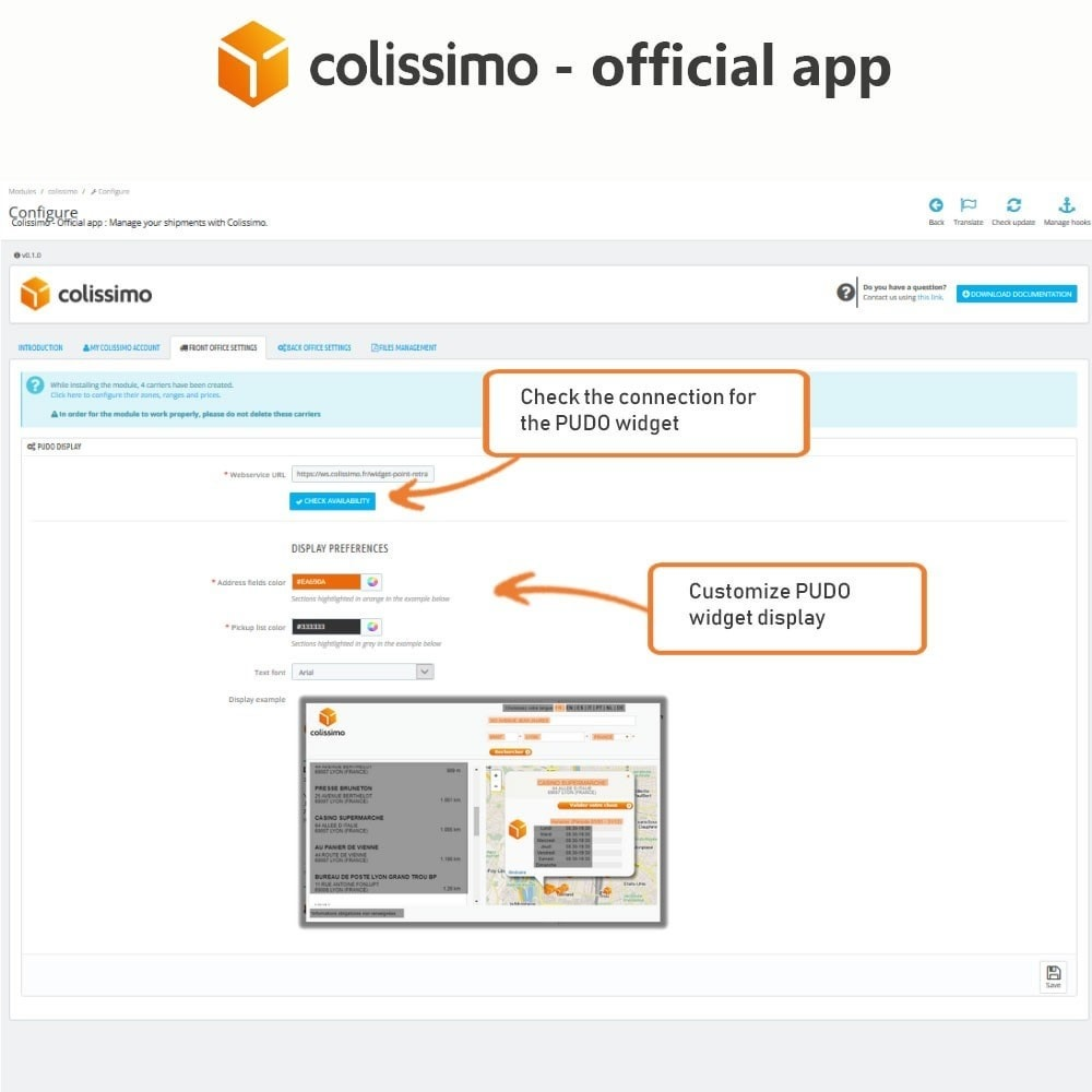 module - Transportadoras - Colissimo - Official app: your shipments with Colissimo - 5