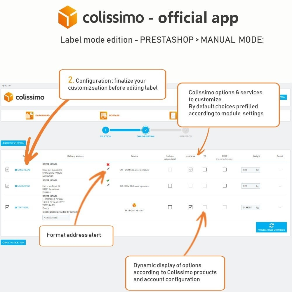 module - Transportadoras - Colissimo - Official app: your shipments with Colissimo - 13