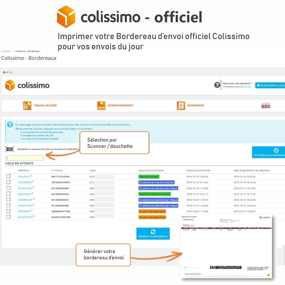 module - Transporteurs - Colissimo - Officiel : vos expéditions avec Colissimo - 17