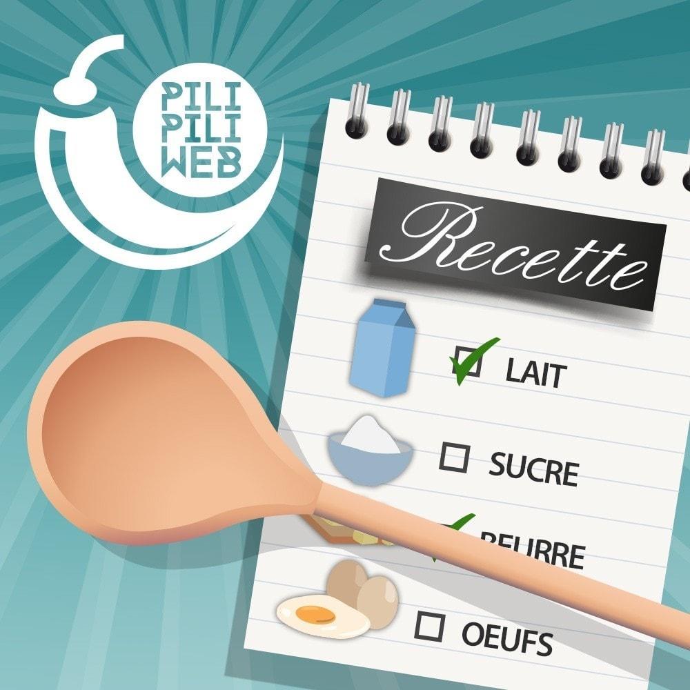 module - Programa de Fidelidad - Recipe configurator with your products - 1