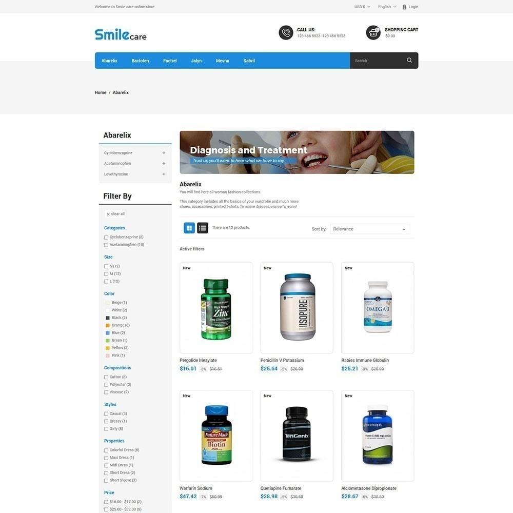 theme - Saúde & Beleza - Smilecare - Loja de produtos de saúde e beleza - 4