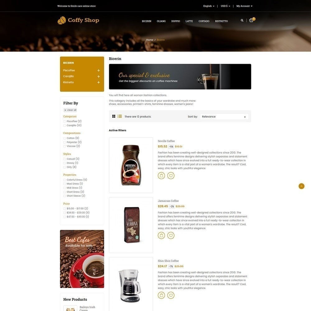 theme - Food & Restaurant - Coffee Store - 4