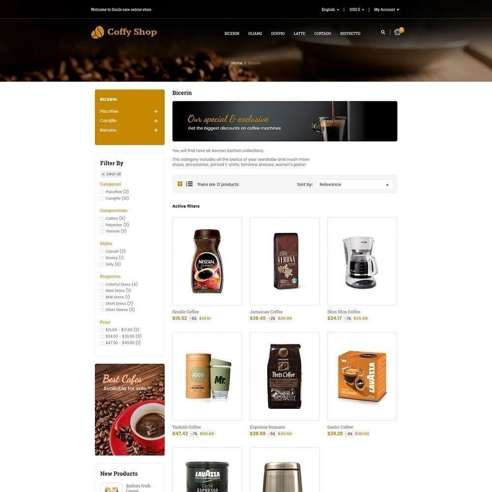 theme - Eten & Restaurant - Koffie winkel - 4